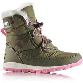 Sorel Whitney Short Lace Botas Niños, hiker green/sea salt